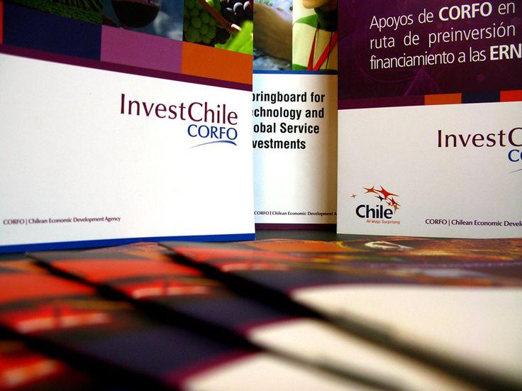 linea gráfica corporativa CORFO Invest Chile