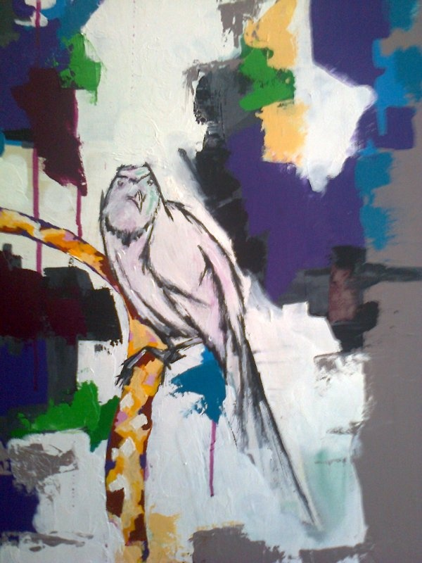acrylic-oil and pen on canvas...48*1.20...www.2designandother.com