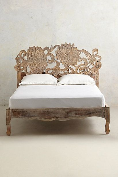 Handcarved Lotus Bed