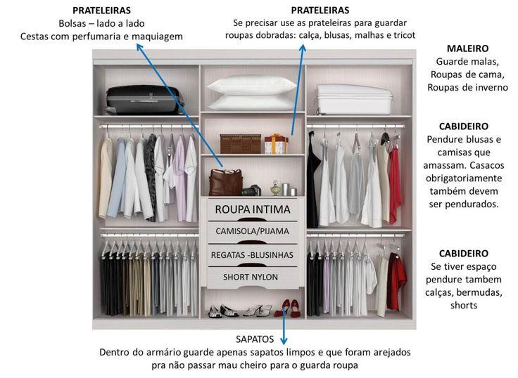Como organizar um guarda roupa pequeno, closet . Como organizar bolsas e sapatos