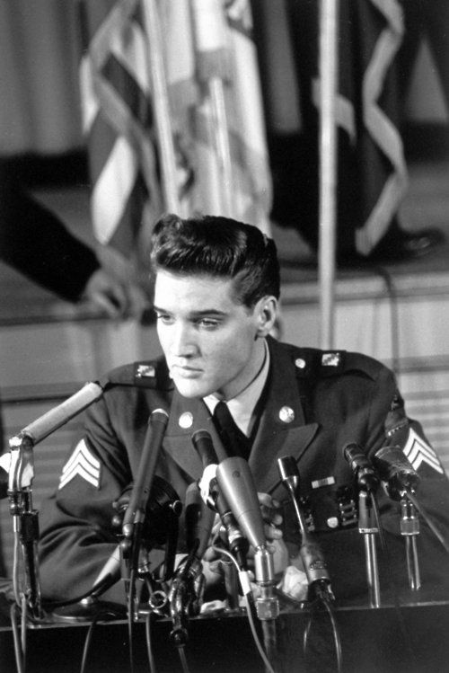 Press Conference is held March, 1960; after Elvis is discharged from the U.S. Army.