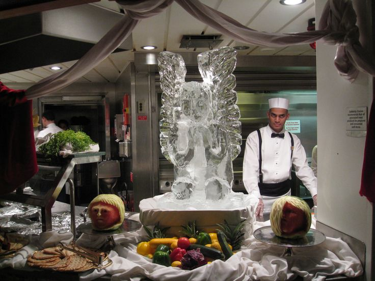 ice carving on Celebrity cruise line