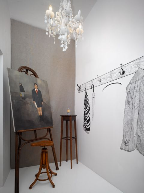 Gallery by Minty Concept Club in Prague - experiential retail and gallery - love the trompe l'oeil: Shops Interiors, Concept Rooms, Interiors Design, Shops Display, Concept Club, Dresses Rooms, Minti Concept, Company Concept, Club Galleries
