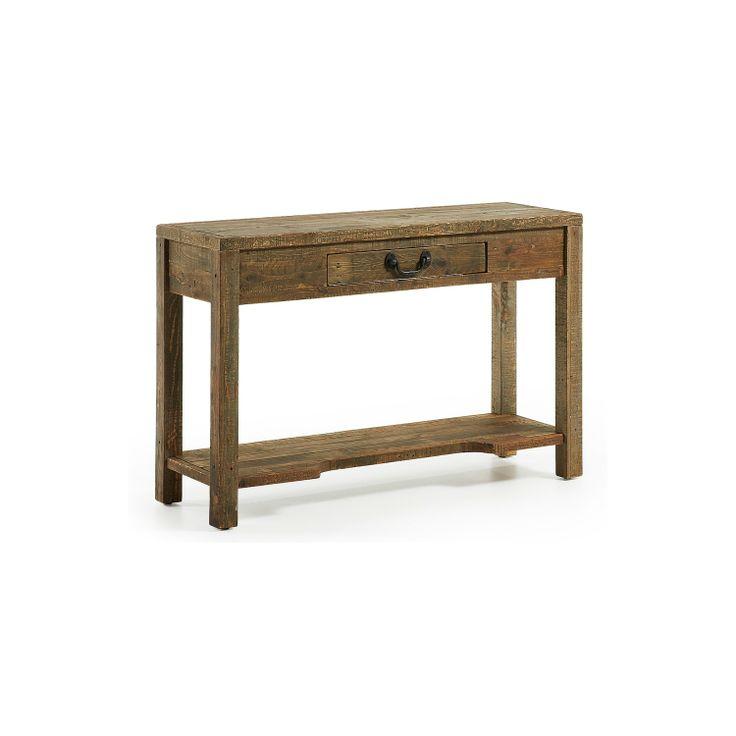 Goa consola un cajon artesanal madera palet nogal aceite - Aceite para muebles ...