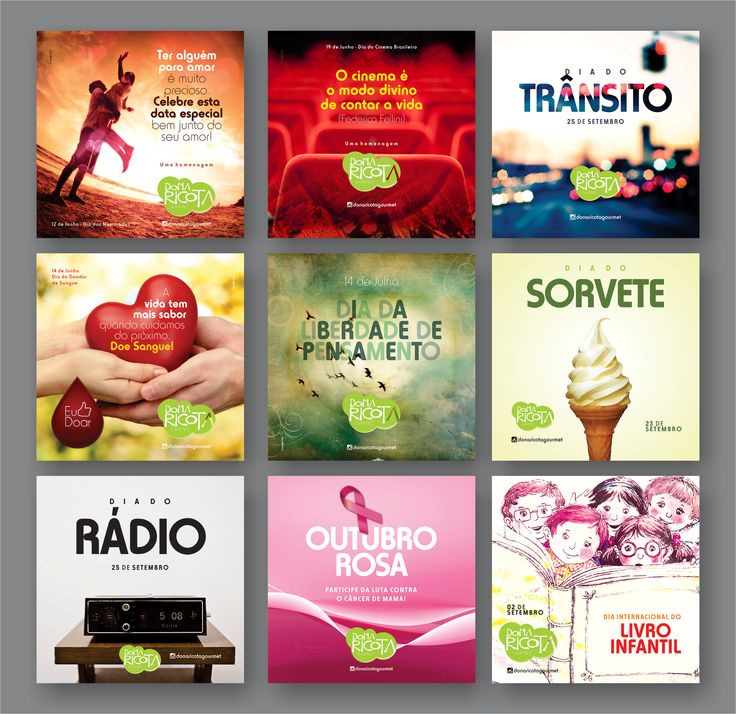 Social Media - Dona Ricota Gourmet on Behance