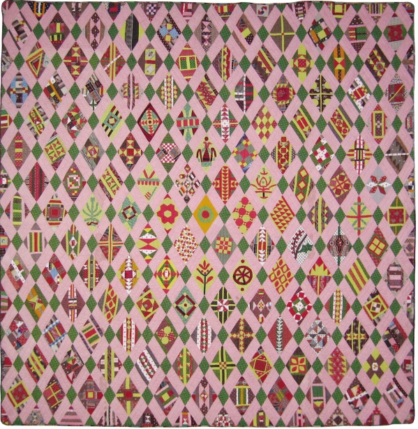 Lancaster Diamond Sampler, c. 1840, Ann Holte Quilting. There are 137 different, diamond-shaped blocks.  Ann has drafted the patterns.