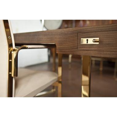 Hans J. Wegner CH 110 Skrivbord Ek Gold Edition