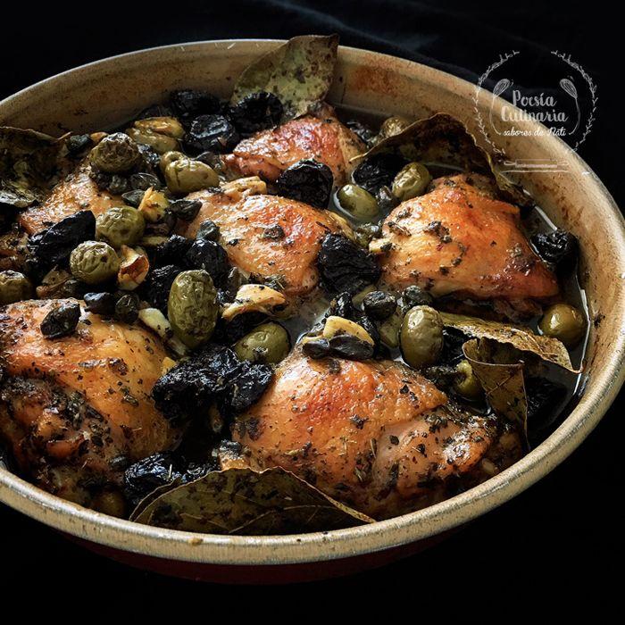 Pollo Marbella Aceitunas Alcaparras Ciruelas Vinagre De Vino Tinto Cocinarte Alcaparras Pollo Perniles De Pollo