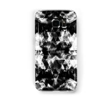 Electrifying black and white sparkly triangle flames Samsung Galaxy Case/Skin by #PLdesign #geometric #modern #abstract