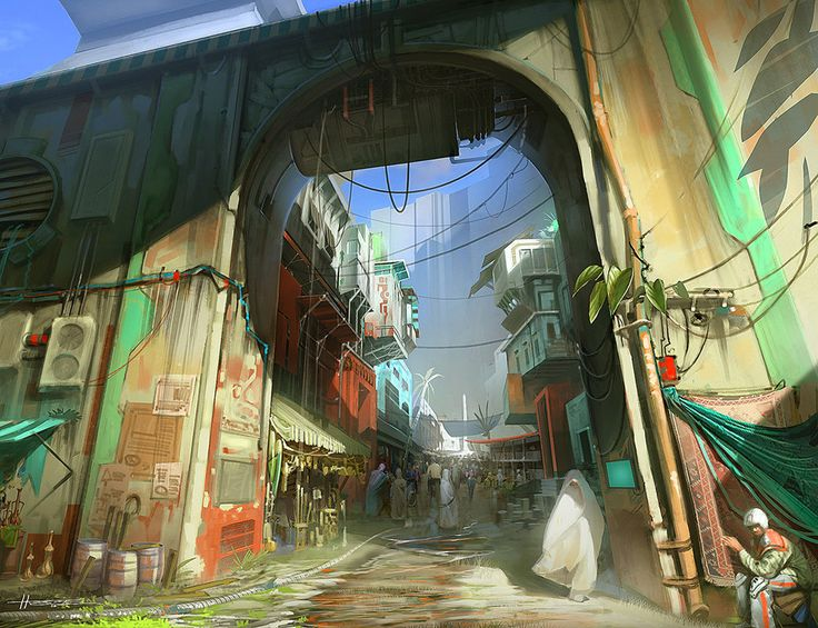 ArtStation - City Gate, Hector Ortiz