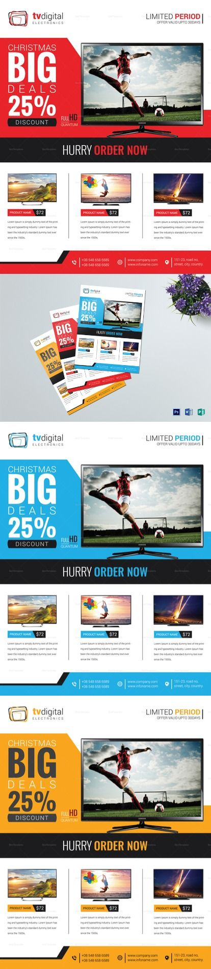 Television Product Sale Flyer Template