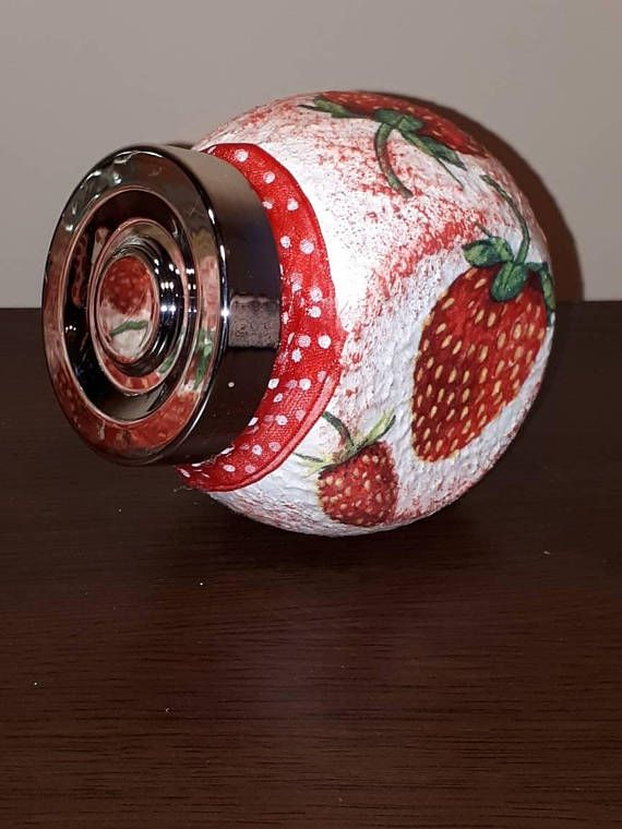 Check out this item in my Etsy shop https://www.etsy.com/listing/551150960/strawberry-kitchen-decor-canister