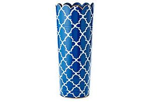 One Kings Lane - In Harmony - Umbrella Stand, Navy Madeline