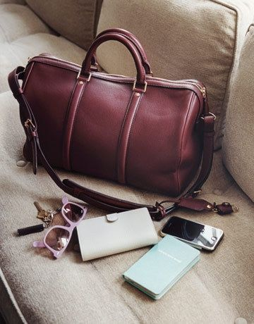 Wine leather weekender. Early birthday present (it'll last forever, right?). Mine's a Montague from J Crew.