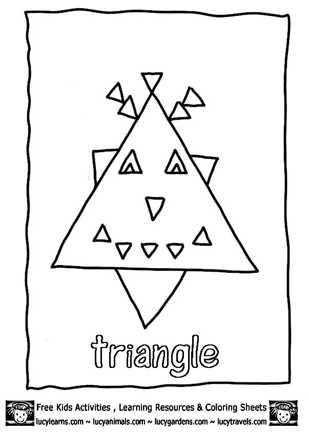 10 best TRIANGLE printable images on Pinterest | Triangle shape ...