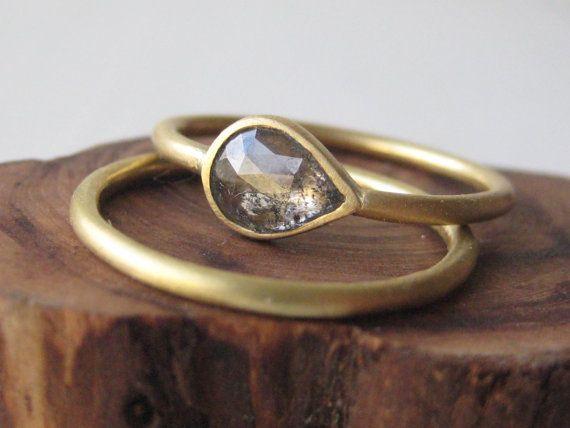 artisan icy diamond engagement ring by shaktiellenwood 99900 - Artisan Wedding Rings