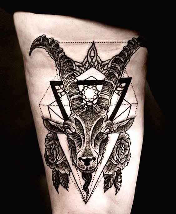 Muflon Widder Tattoo Steinbock Tattoo Widder Tattoos 8