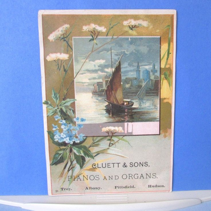 Weber PIANO TRADE CARD Cluett Sons New York Vintage Grand Square Upright | eBay