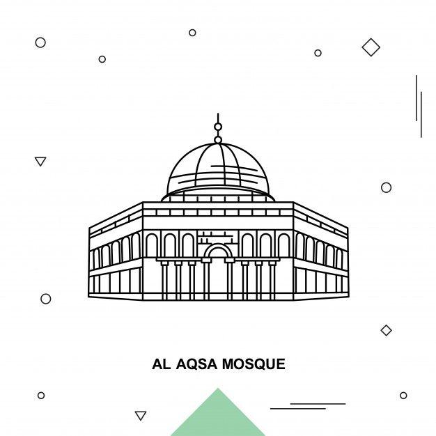 Mezquita Al Aqsa Grafico Vectorial Mezquita Vector