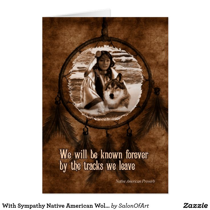 With Sympathy Native American Wolf Dreamcatcher Card from Zazzle!