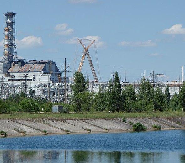 Chernobyl reactor 4 in Ukraine.