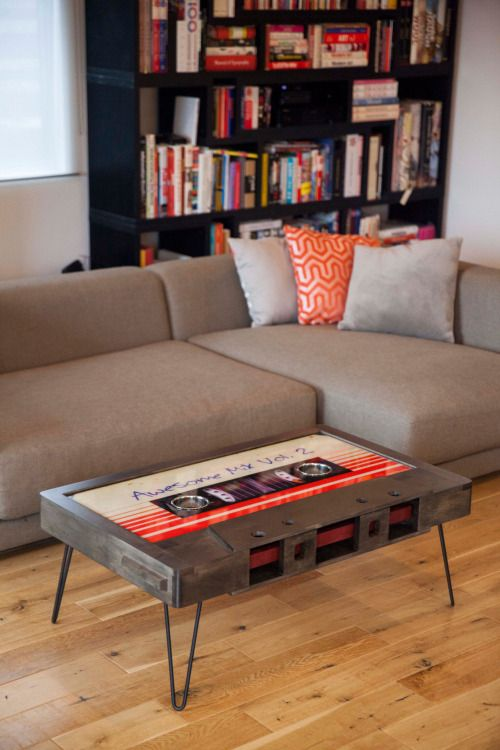 CULTURE N LIFESTYLE — Retro Mixtape Coffee Tables Los Angeles-based...