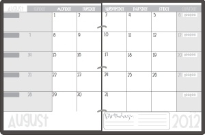 teacher planning calendar - free and made for a binder.  I LOVE THIS.