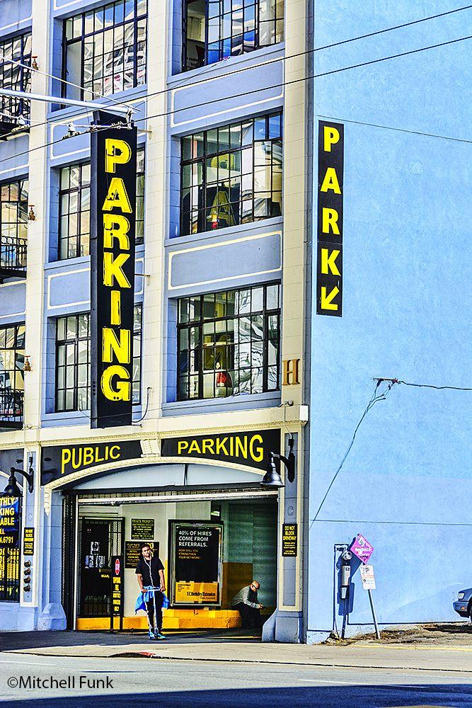 Old Parking Garage In The Tenderloin, San Francisco www.mitchellfunk.com