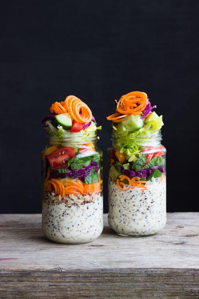 Rainbow Salad Jars - Mayvers