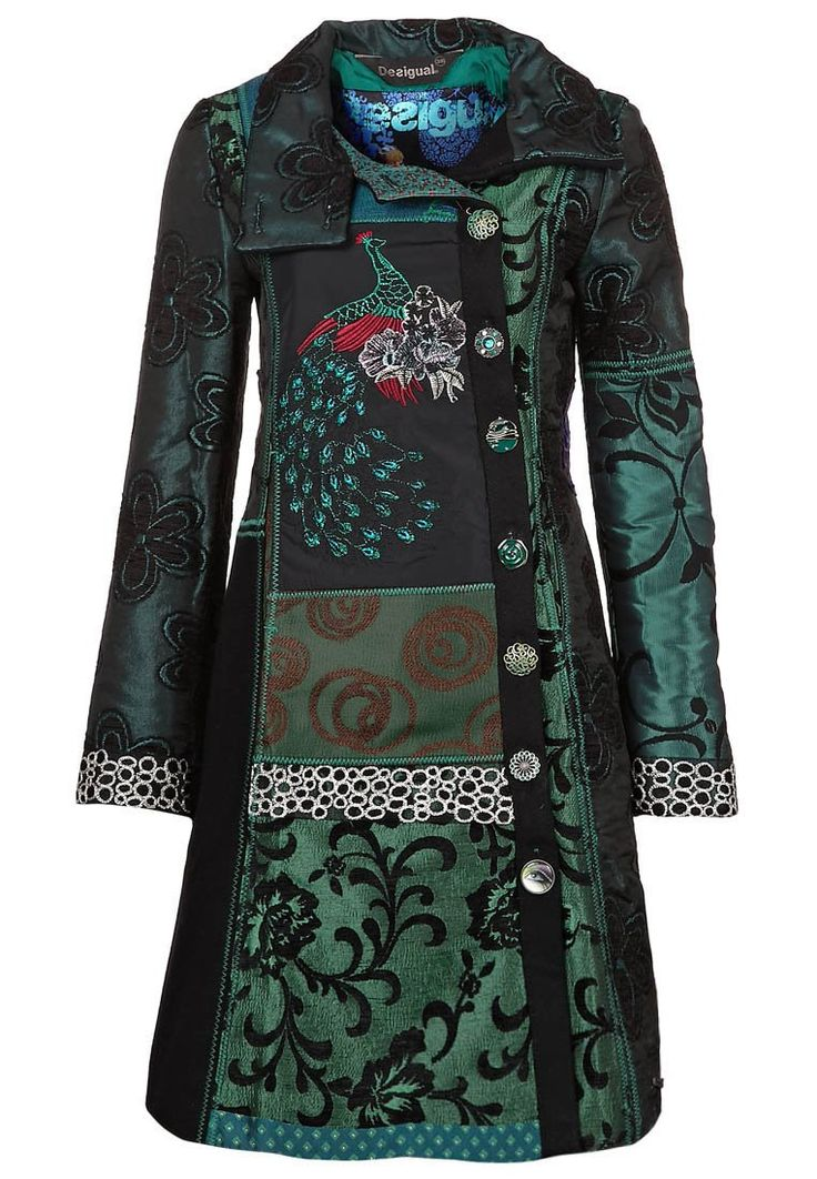 Don't like every pattern here on the coat, but something dark with a flashy pattern would make a great statement.