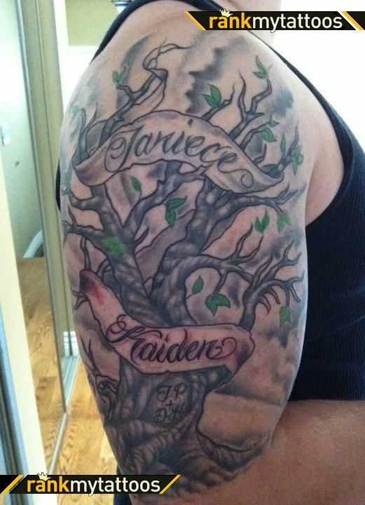 pics photos half sleeve first tattoo family tree tattoos axsoris family half sleeve tattoos. Black Bedroom Furniture Sets. Home Design Ideas