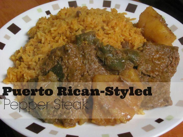 Easy Recipe: Puerto Rican-Styled Pepper Steak | New York Chica