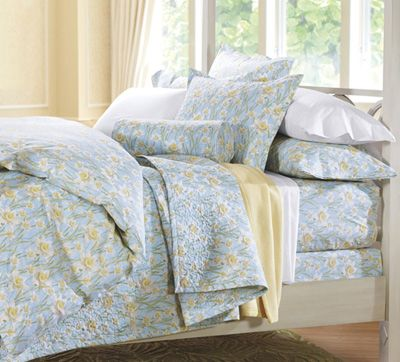Smooth #cuddledown Daffodils Cotton Percale Bedding: Cotton Percale, Duvet Covers, Percale Flat, Cuddledown Daffodils, Products, Daffodils Cotton, Percale Duvet, Percale Bedding