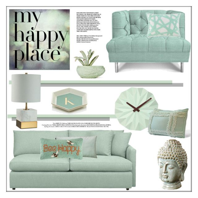 """Home Sweet Home: THS My Happy Place"" by pat912 ❤ liked on Polyvore featuring interior, interiors, interior design, home, home decor, interior decorating, Karlsson, Crate and Barrel, Abbyson Living and WestPoint Home"
