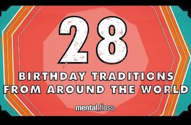 John Green nous fait découvrir 28 traditions d'anniversaires à travers le monde pour le magazine Mental Floss !
