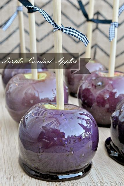 Purple Candy Apples!  Perfect for Fall Semester at ECU! Go Pirates!