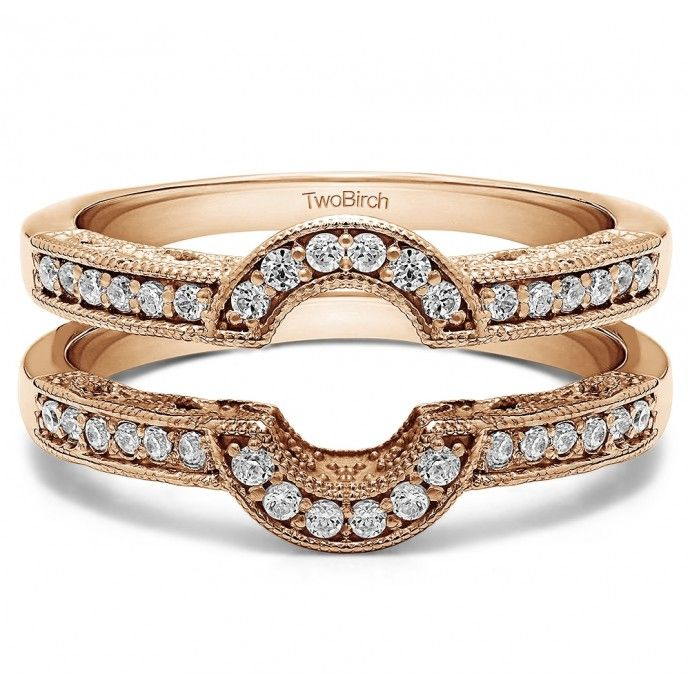Oval Shaped Halo Style Ring Guard. One of the most popular trends in bridal jewelry is the halo style engagement ring. This ring guard is the perfect way to get to the halo looking engagement ring. It is an oval halo set with round stones, but can be worn