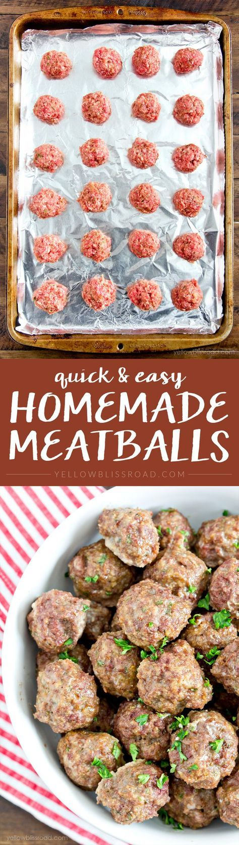 Easy Homemade Meatballs - so much better (and cheaper!) than frozen