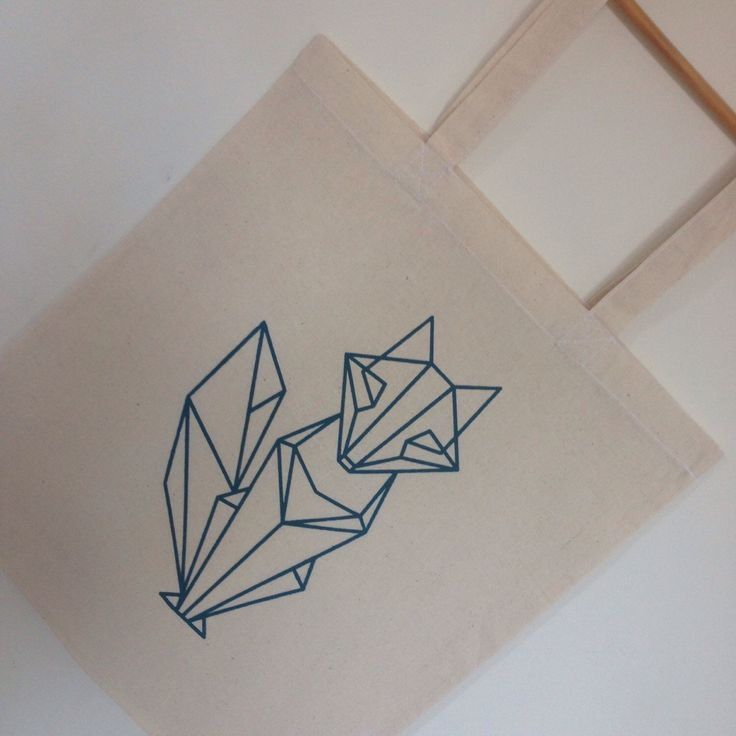 A personal favourite from my Etsy shop https://www.etsy.com/uk/listing/287596507/deep-teal-origami-fox-screenprinted-tote