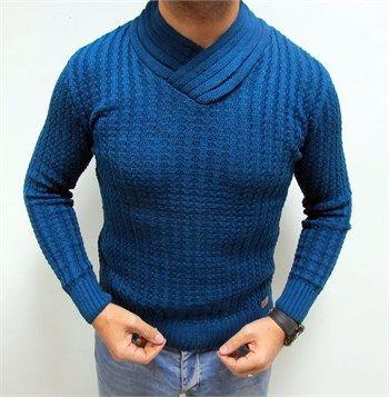 Yeni sezon erkek fit kesim mavi kazak modellerini en ucuz fiyatlarıyla kapıda ödeme ve taksit ile Outlet Çarşım'dan satın al.