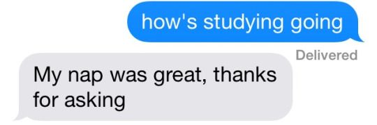 literally all finals week is like this, every day