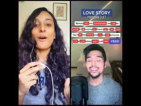 Love Story Popcorn Duet Jmko Tiktok Duet Youtube Duet Love Story Songs To Sing