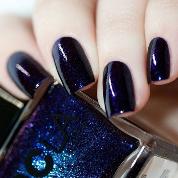 NCLA lacquer in | Dead End Gorgeous | is a dark purple full coverage iridescent color  Nails by @chrissys_lackwahnsinn #ncla #shopncla #deadendgorgeous #nails #nailpolish #5free #lacquer by shopncla