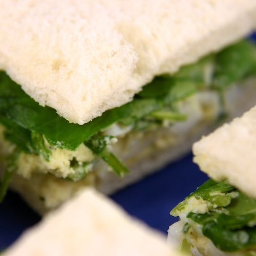 Traditional English Tea Sandwiches - Watercress For recipe go to:  http://coffeetea.about.com/od/foodmeetsdrinks/tp/Traditional-English-Tea-Sandwiches.htm