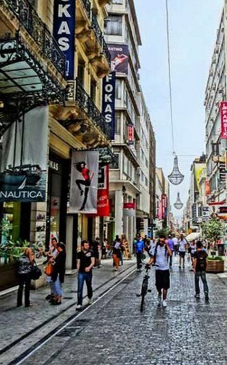 Ermou Street - shopping in Athens, Greece