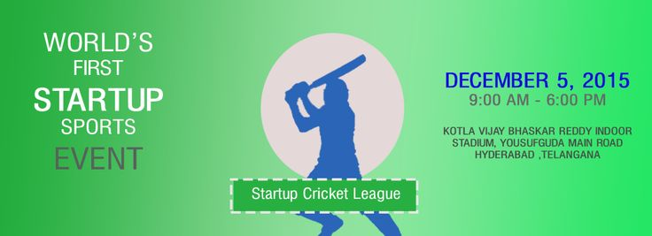 Startup Cricket League,an innovative thought, an event of its own kind, an idea that sprouted up to combine the energies of startups and spirit of sportsmanship.