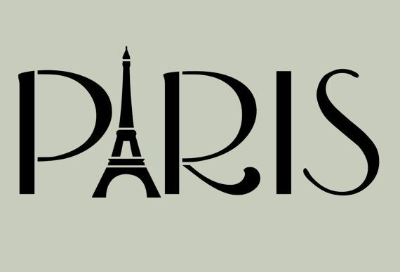 Paris STENCIL French Eiffel Tower 10x4.2 by ArtisticStencils, $12.00