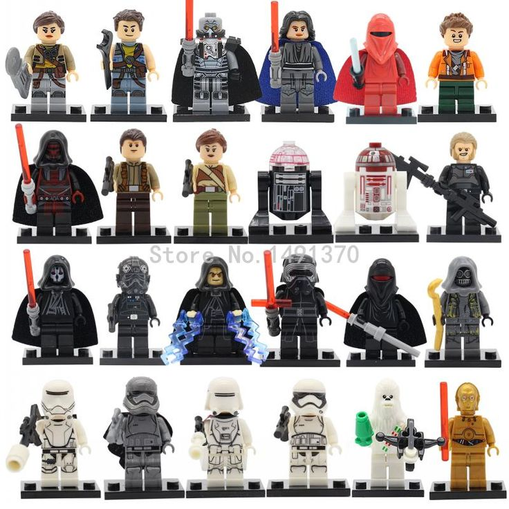 Latest Space Star Wars Figures 24pcs/lot Darth Vader C3PO Yoda B2B Solider Lepin Starwars Building Blocks Bricks Toys 2017