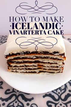 How to make Icelandic Vinarterta cake. A traditional Iceland dessert recipe.