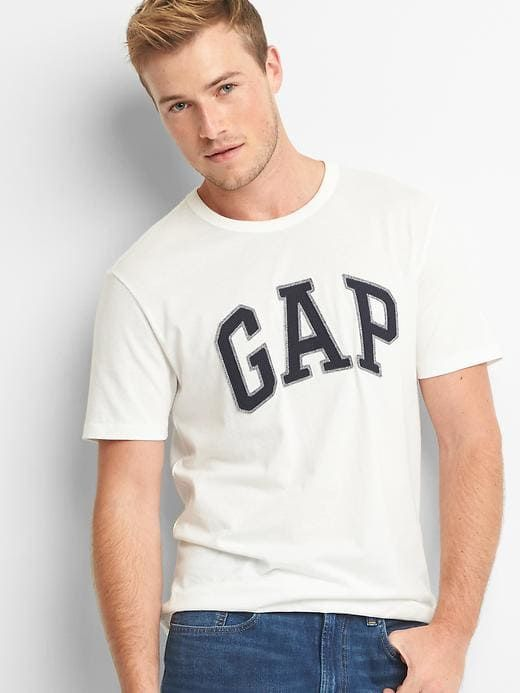 0ce88328afda9 Gap Men's Logo Crewneck T-Shirt New Off White in 2019 | Products ...